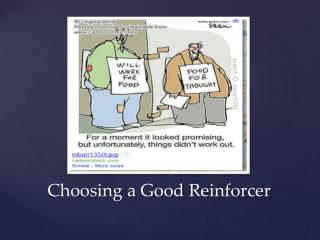 Choosing a Good  Reinforcer
