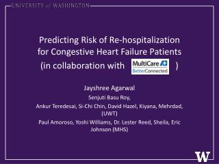 Predicting Risk of Re-hospitalization for Congestive Heart Failure Patients