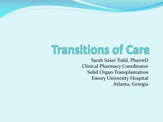 Transitions of Care