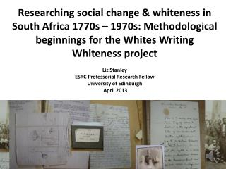The research =   c10 case studies, different figurations of letter-writing