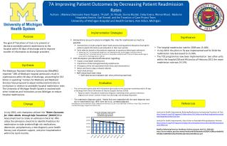 7A Improving Patient Outcomes by Decreasing Patient Readmission Rates