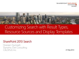 Customizing Search with Result Types, Resource Sources and Display Templates