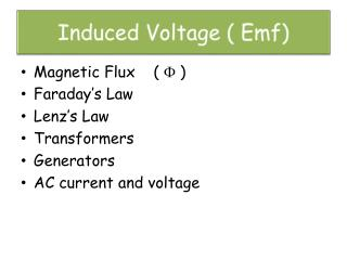 Induced Voltage ( Emf)