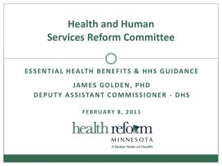 Health and Human  Services Reform Committee