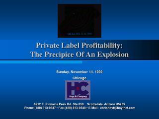 Private Label Profitability: The Precipice Of An Explosion