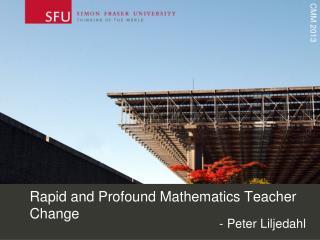Rapid and  Profound Mathematics Teacher Change