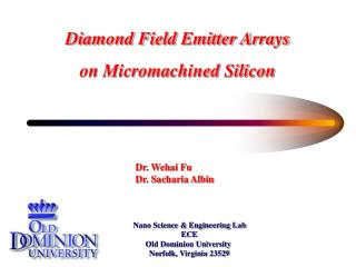 Diamond Field Emitter Arrays on Micromachined Silicon