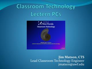 Classroom Technology Lectern PCs