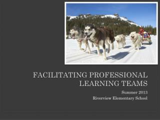 Facilitating professional learning teams