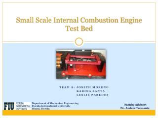 Small Scale Internal Combustion Engine Test Bed