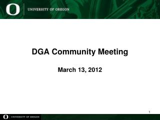 DGA Community Meeting March 13,  2012