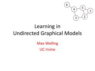 Learning in  Undirected Graphical Models