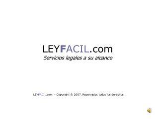 Divorcio Express: Presentaci??n de LEYFACIL.com