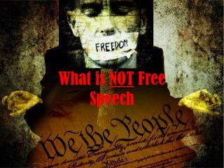 What is  NOT  Free Speech