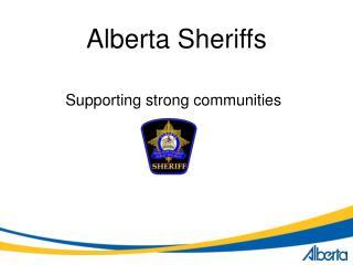 Alberta Sheriffs