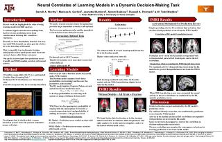 Neural Correlates of Learning Models in a Dynamic Decision-Making Task