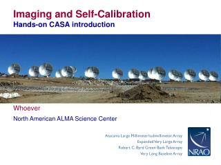 Imaging and Self-Calibration Hands-on CASA introduction