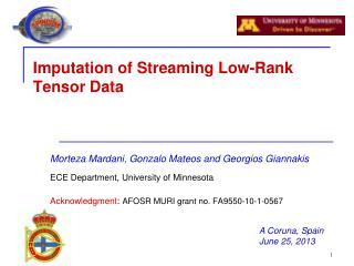 Imputation of Streaming Low-Rank Tensor Data