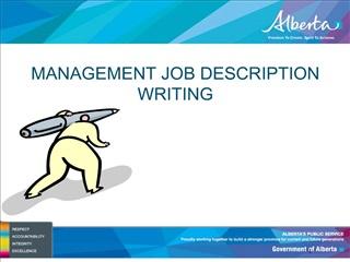 MANAGEMENT JOB DESCRIPTION WRITING