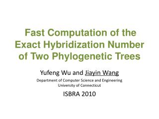 Fast Computation of the Exact Hybridization Number of Two Phylogenetic Trees