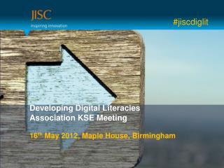 Developing Digital Literacies Association KSE Meeting