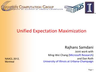 Unified Expectation Maximization