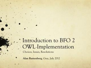 Introduction to BFO 2 OWL  Implementation