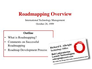 Roadmapping Overview