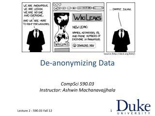 De- anonymizing  Data