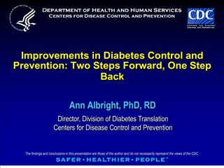 Improvements in Diabetes Control and Prevention: Two Steps Forward, One Step Back