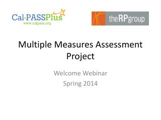 Multiple Measures Assessment Project