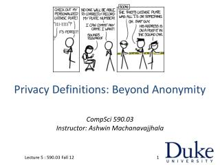 Privacy Definitions: Beyond Anonymity