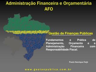 Administra��o Financeira e Or�ament�ria AFO