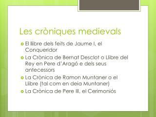 Les cròniques medievals