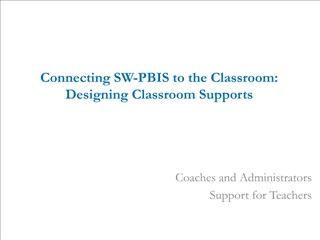 Connecting SW-PBIS to the Classroom: Designing Classroom Supports