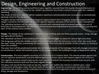 Design, Engineering and Construction