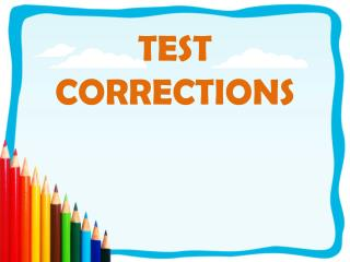 TEST CORRECTIONS