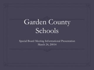 Garden County Schools