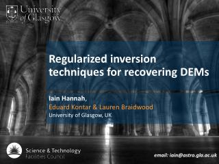 Regularized  inversion  techniques for recovering  DEMs