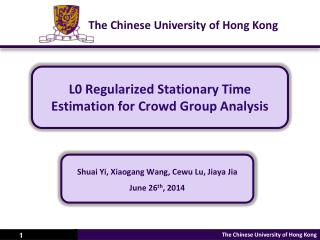 L0 Regularized Stationary Time Estimation for Crowd Group Analysis