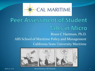 Peer Assessment of Student Talks in Micro