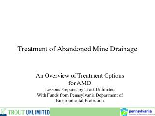 Treatment of Abandoned Mine Drainage