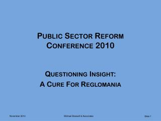 Public Sector Reform Conference 2010
