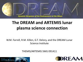 The DREAM and ARTEMIS lunar plasma science connection