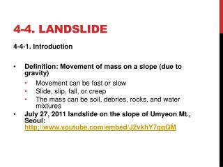 4-4. landslide