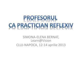 SIMONA-ELENA BERNAT,  Learn @Vision CLUJ-NAPOCA, 12-14 aprilie 2013