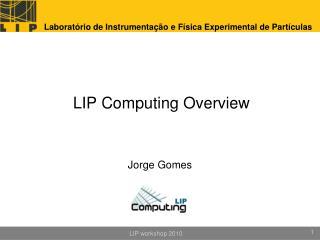 LIP Computing  Overview
