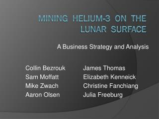 Mining  Helium-3  on  the  Lunar  surface