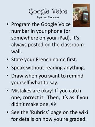 Google Voice Tips for Success