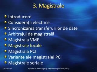 3. Magistrale